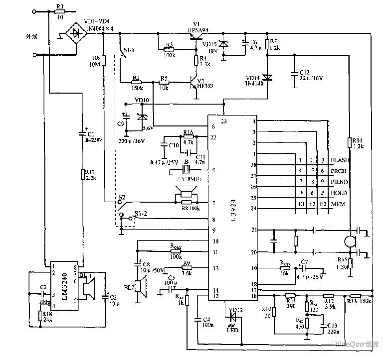high integrated telephone circuit diagram telephonerelatedcircuit