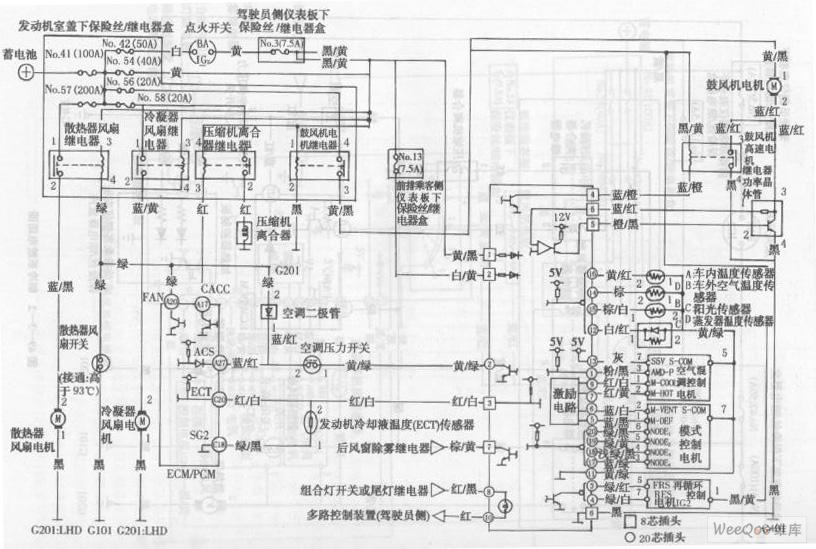 Accord sedan automatic temperature control system circuit