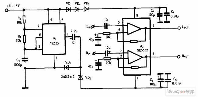 Using NE555 Skillfully as Negative Voltage Generator