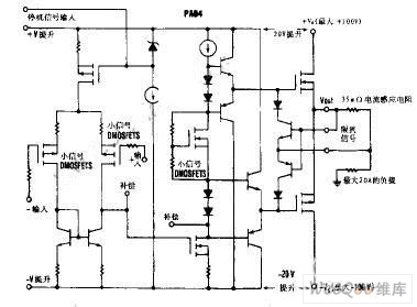 The Inside Circuit of the Power Operational Amplifier