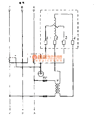 Single-phase meter as the power meter wiring circuit of