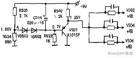 The Static Offset Circuit of the Triode Common-Emitter