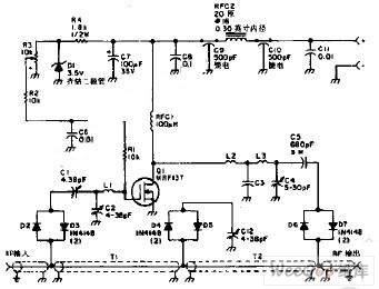 The Discharge Circuit of a Walkie-Talkie Consisting of