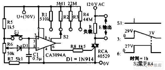 The predetermined analog timer circuit diagram