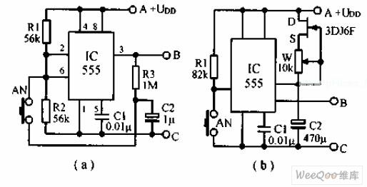 Touch-press type SCR zero-passaging switch circuit