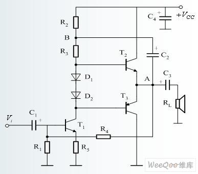 Basic Complementary Symmetry OTL Power Amplifier Circuit