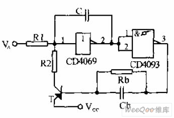 Voltage control oscillator circuit composed of the Schmitt