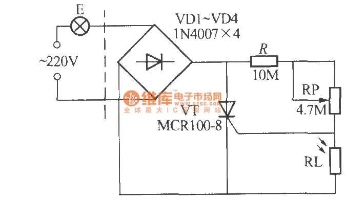 Simple light-operated street lamp circuit diagram(2