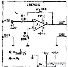 The circuit of DC inverting amplifier whose gain is