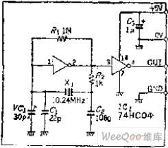 Quartz Crystal Oscillation Circuit of C-MOS Converter