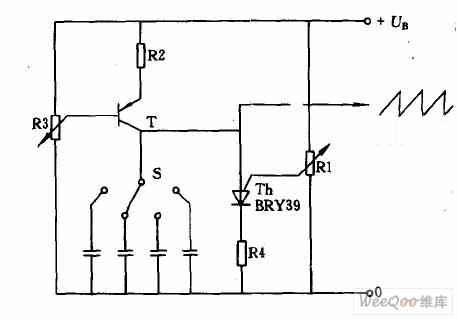 Diseño Electrónico: Simple 3 transistor sawtooth generator