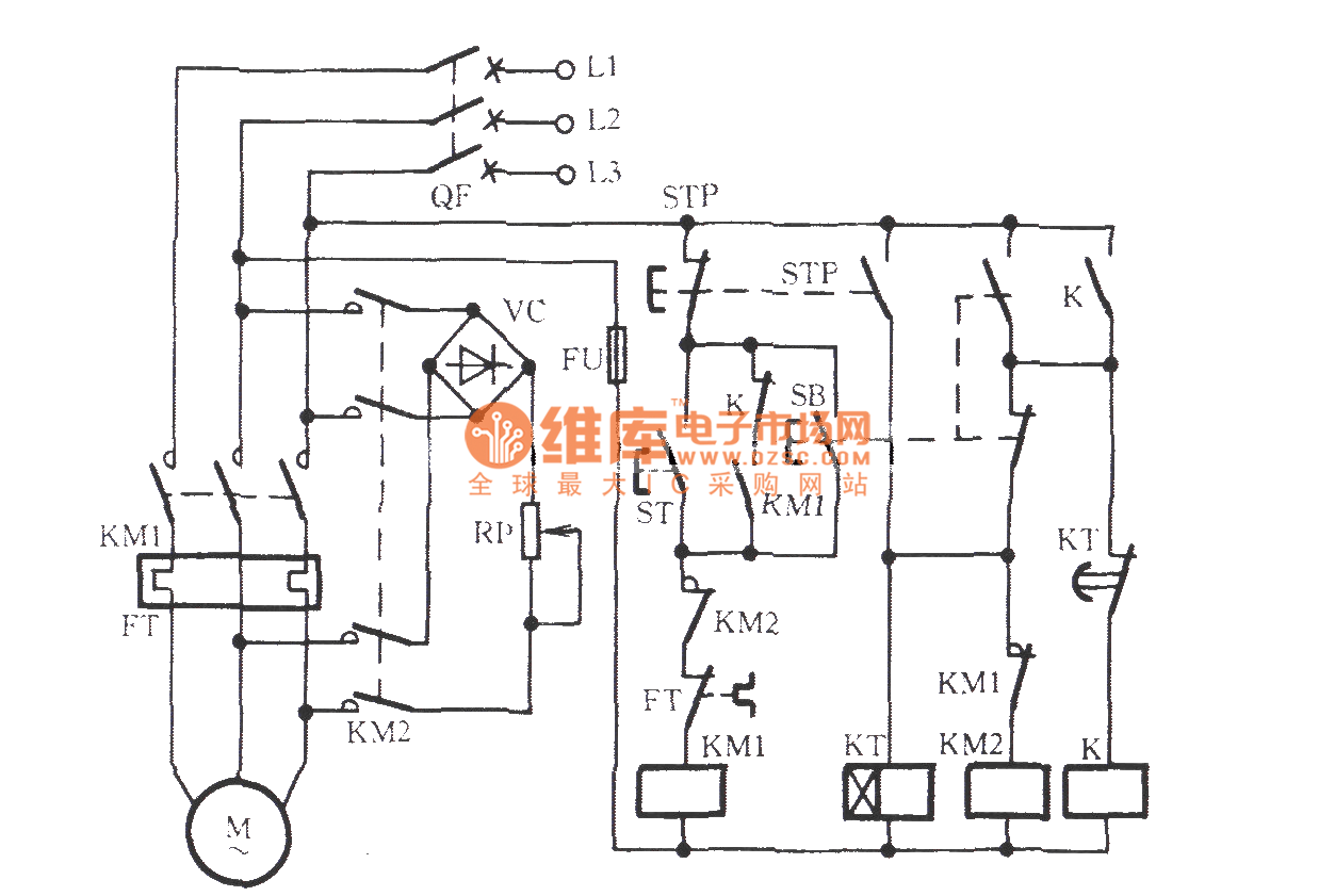 Three Phase Motor For Jog Brake Circuit B