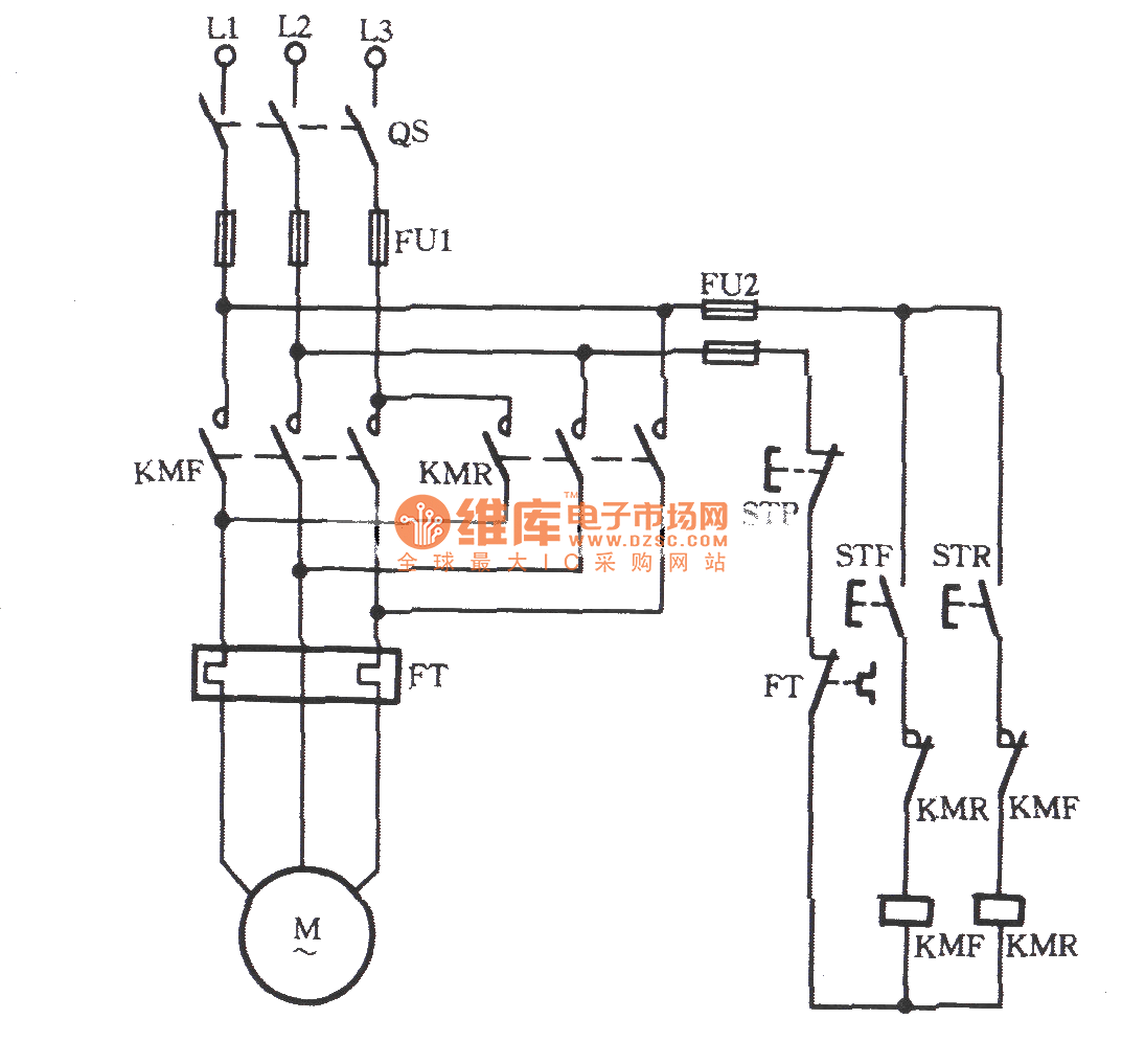 Motor Control Circuit Diagram Forward Reverse