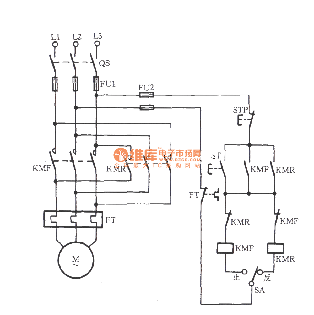 medium resolution of three phase motor with pre selection switch commutation circuit