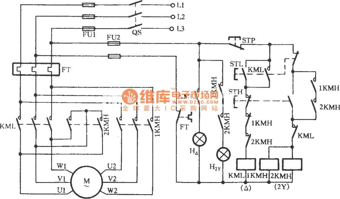 Two Speed Three Phase Motor Wiring Diagram Auto Electrical
