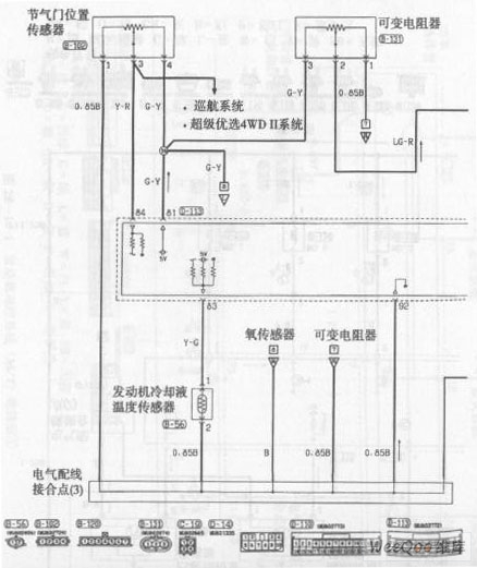 Beijing Pajero SUV Engine Control System (M / T) Circuit