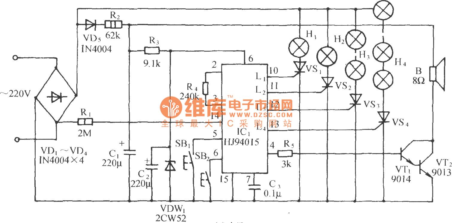 christmas music lights circuit diagram