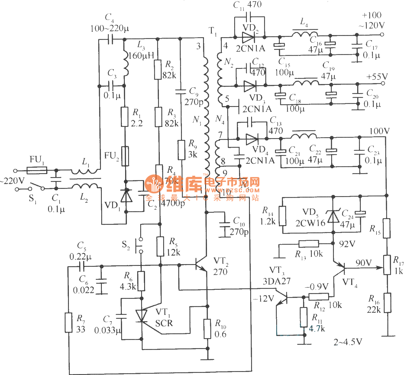 dc regulated power supply circuit diagram golf vr6 wiring the self motivation switch 1