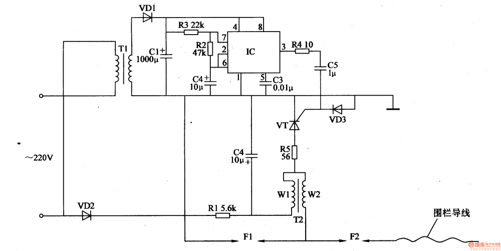 medium resolution of electric fence control circuit 2