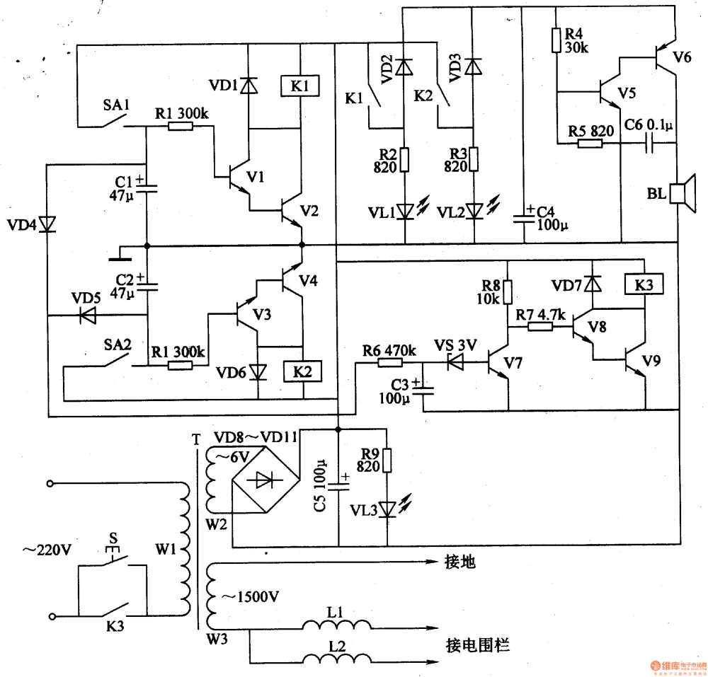 medium resolution of electric fence control circuit 5