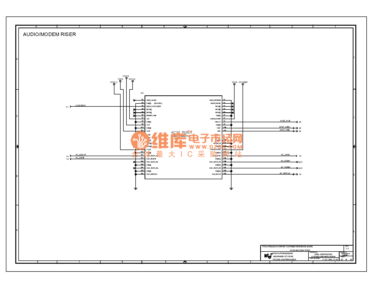 Computer Motherboard Circuit Diagram 810 1 26