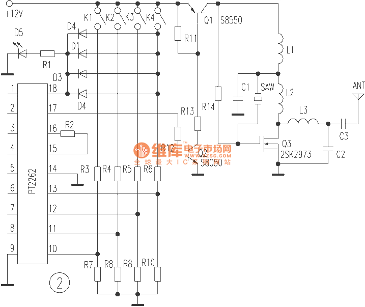 sound surface wave resonator application circuit in the