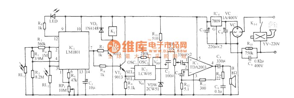 medium resolution of the light sensitive high power fire alarm circuit lm1801