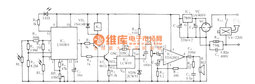 small resolution of the light sensitive high power fire alarm circuit lm1801