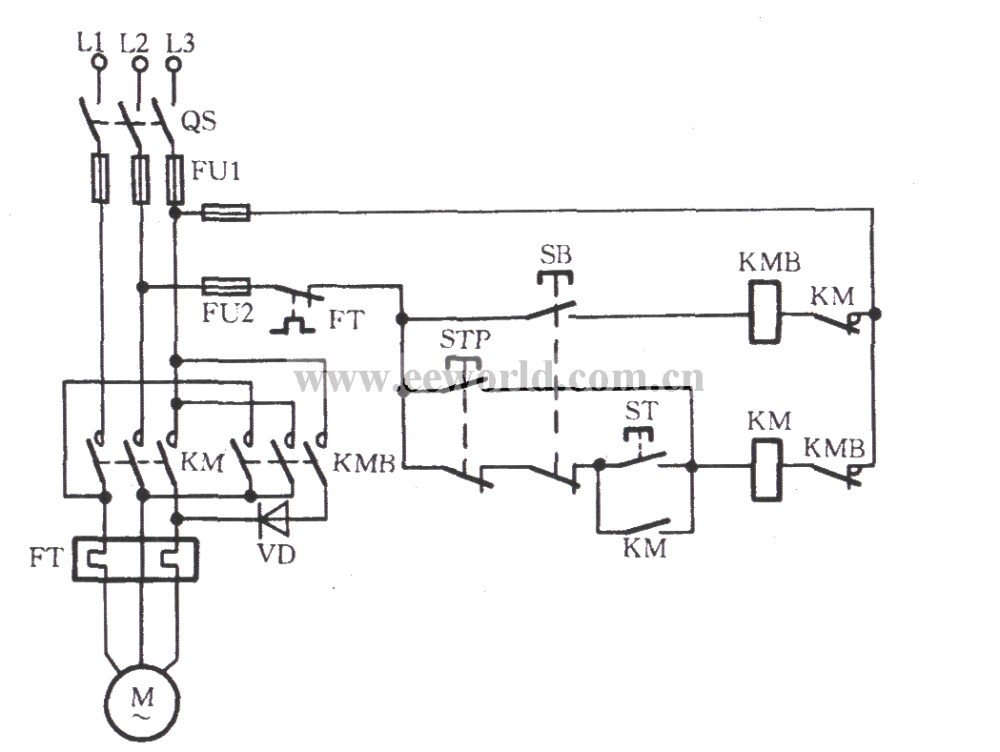 medium resolution of three phase motor braking circuit 1