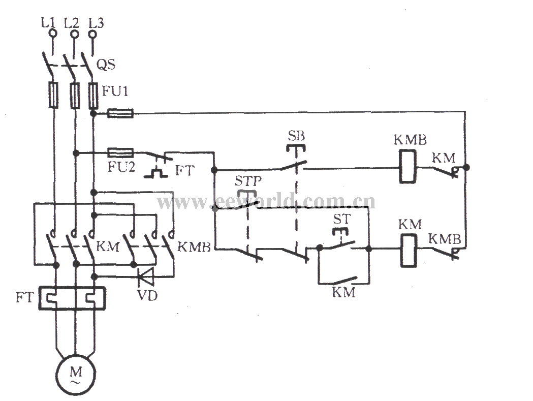 hight resolution of three phase motor braking circuit 1