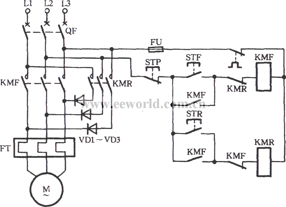 Y-connection three-phase motor low speed running and