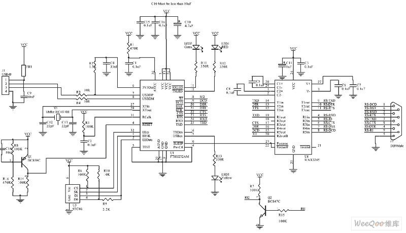 Usb To Serial Port Schematic Diagram