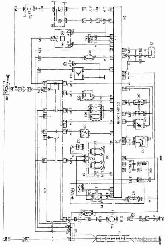 The Fukang car engine oil injection control system circuit
