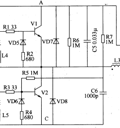 electronic ballast circuit diagram on electronic choke circuit electronic ballast circuit explanation electronic ballast schematic [ 2940 x 1237 Pixel ]