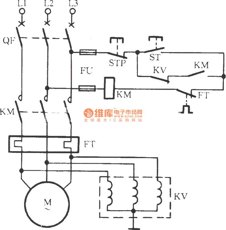 Three coils voltage relay balance control broken phase