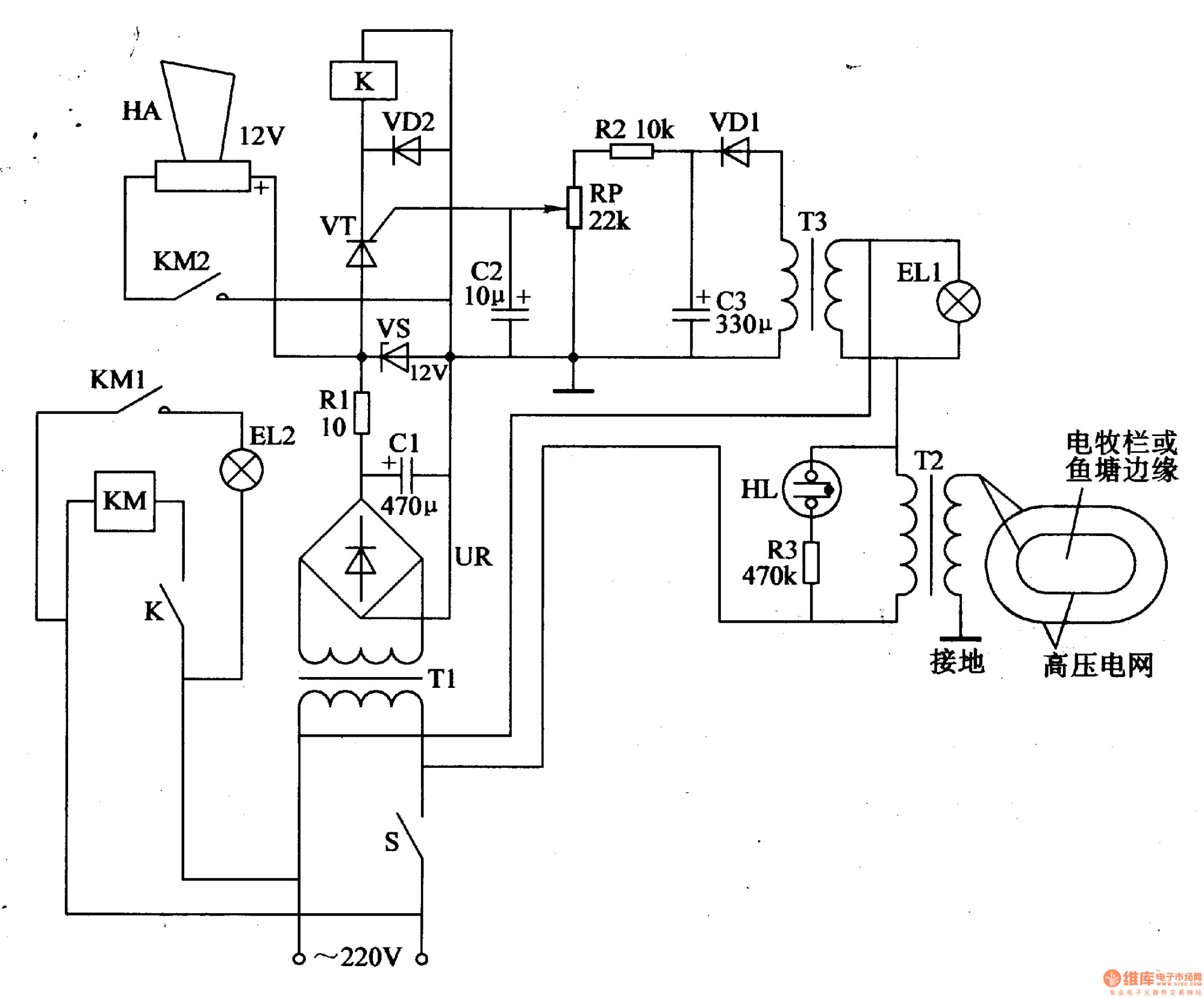 hight resolution of electric fence control circuit
