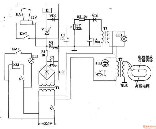 small resolution of electric fence control circuit