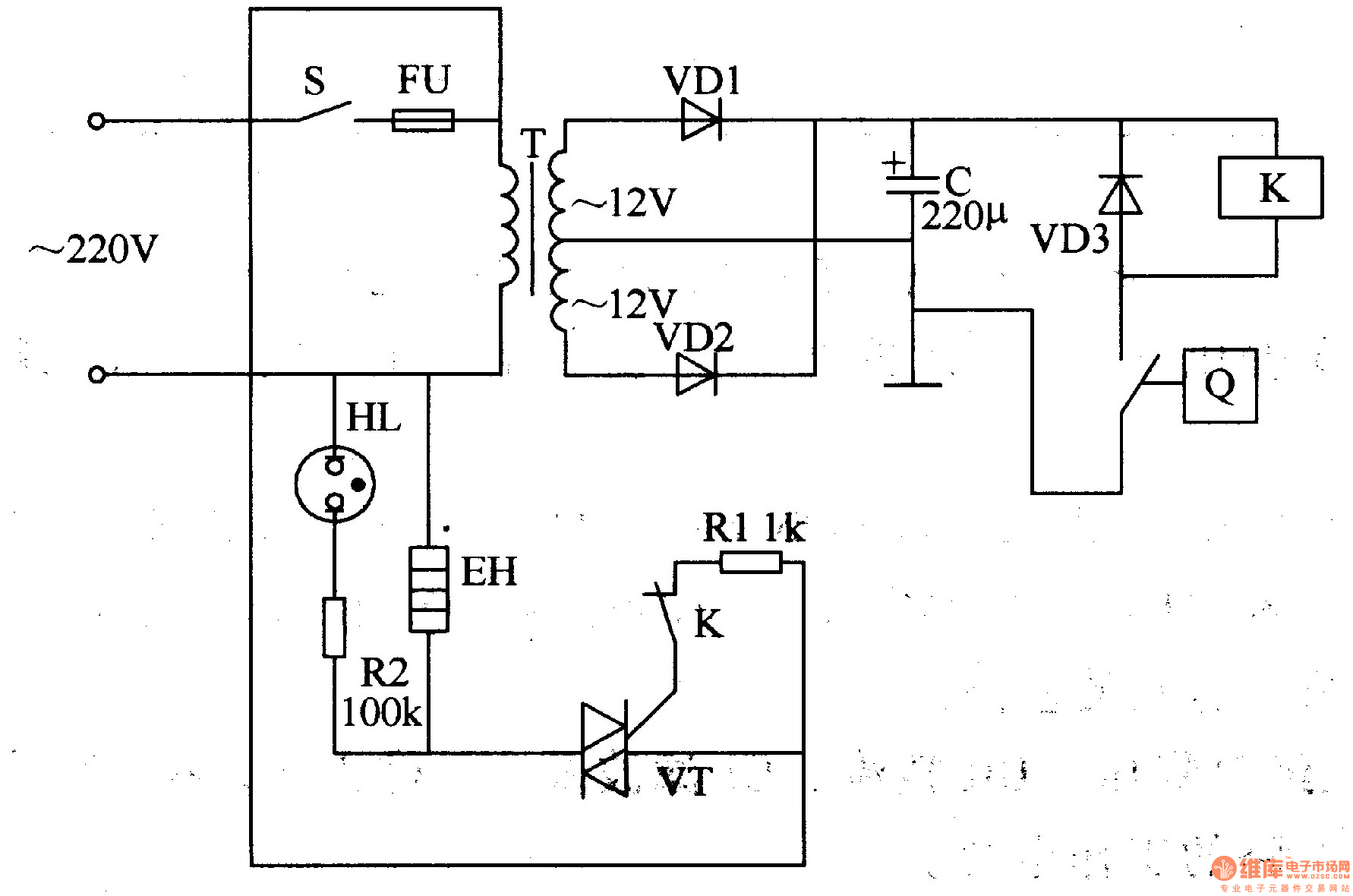 Temperature Controller Schematic Diagram