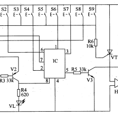 Electronic Number Lock Circuit Diagram Wiring For 5 Pin Relay Digital 4 Electrical Equipment