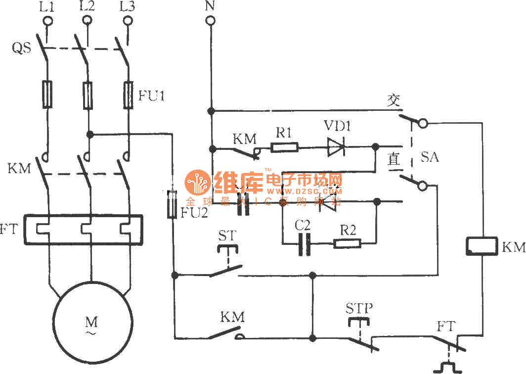 hight resolution of ac contactor power saving noiseless operation circuit