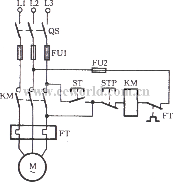 The emergency circuit of the AC contactor with the damaged