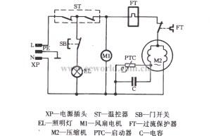 Haier BC118 kitchen cold storage refrigerator circuit