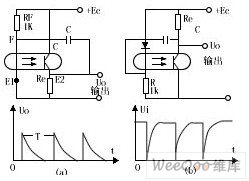 Schematic and applied circuit diagram of pulse circuit