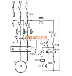 automatically series resistor start three phase motor circuitautomatically series resistor start three phase motor circuit [ 869 x 905 Pixel ]