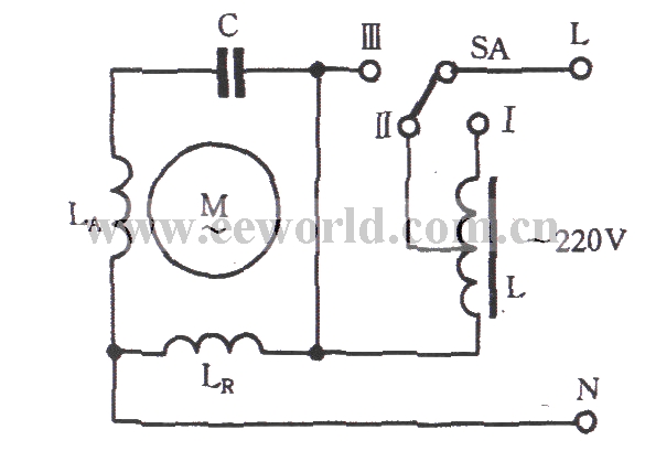 Single-phase motor reactor buck speed control Circuit
