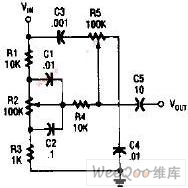 Bass and treble tone two-way control circuit diagram