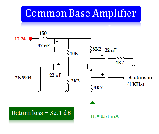Circuit Diagram Of A Common Emitter Circuit