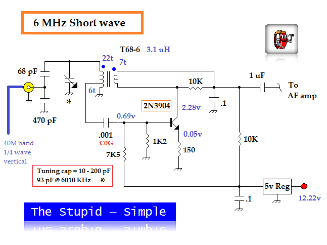 Simple Regenerative Radio Schematic