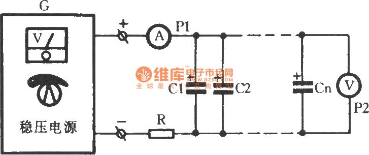 Burn-in circuit with aluminum electrolytic capacitor
