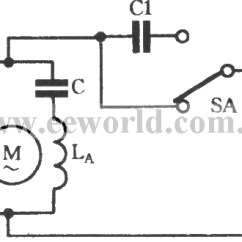 Wiring Diagram Of A Single Phase Motor With Two Capacitors Gold Silver Copper Speed Regulating Circuit Connected Capacitor In Series